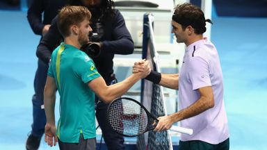 Federer v Goffin: Highlights