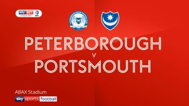 Peterborough 2-1 Portsmouth