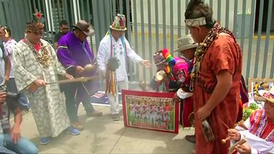 Peruvian shamans' World Cup ritual