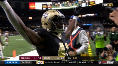 Kamara ties it for Saints