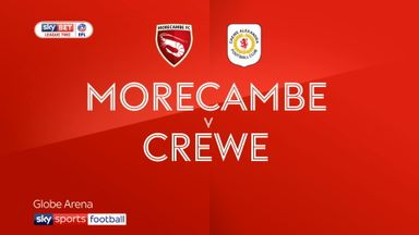 Morecambe 0-1 Crewe