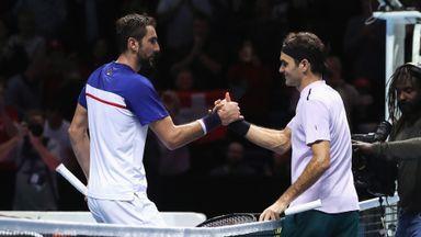 Federer v Cilic: Highlights