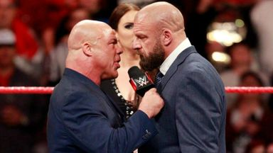 Kurt Angle threatens Triple H