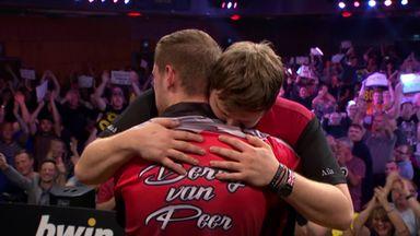 Emotional van Peer wins!
