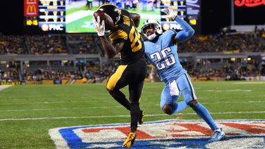 Antonio Brown's helmet catch