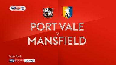 Port Vale 0-4 Mansfield