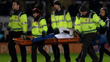 Coutts breaks leg against Burton