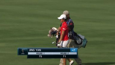 Jing Yan finishes in style