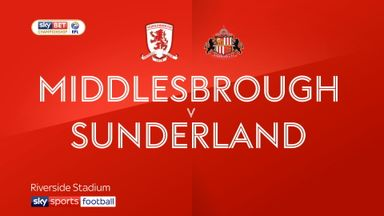 Middlesbrough 1-0 Sunderland