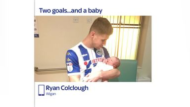 Baby makes it 'surreal hat-trick' for Colclough