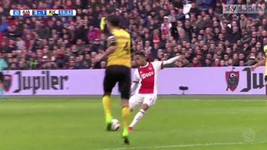 WATCH: Justin Kluivert scores impressive Ajax hat-trick