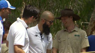 Moeen Ali-gator meets crocodile