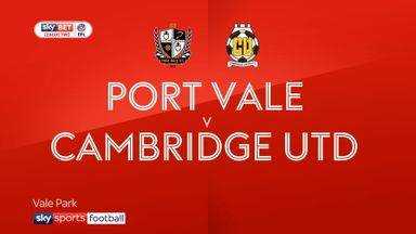 Port Vale 2-0 Cambridge