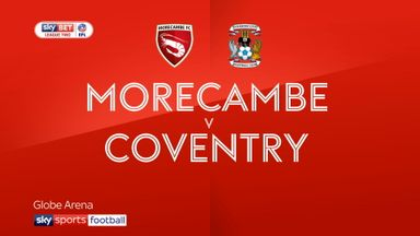 Morecambe 2-0 Coventry