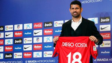 Atletico officially unveil Costa