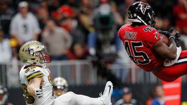 Jones interception set up Falcons win