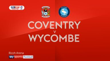 Coventry 3-2 Wycombe