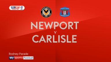 Newport 3-3 Carlisle