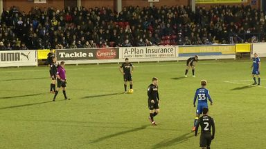 Max powers home a free-kick