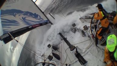 Ocean Race crew almost wiped out