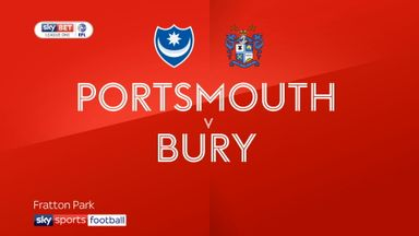 Portsmouth 1-0 Bury
