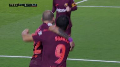 Suarez gives Barca the lead