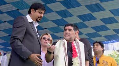 Maradona statue unveiled