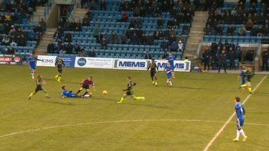 Ref takes a tumble at Gillingham