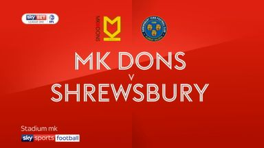 MK Dons 1-1 Shrewsbury