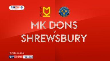 MK Dons 1-1 Shrewsbury