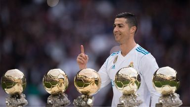 Ronaldo presented with Ballon d'Or
