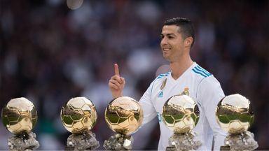 Ronaldo presented with Ballon d'Or