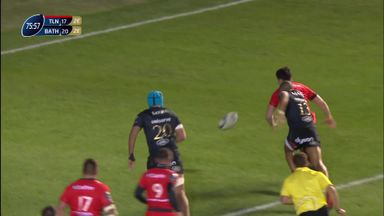 Belleau's winning try for Toulon
