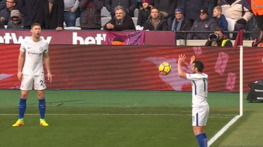 Pedro's dodgy foul throw