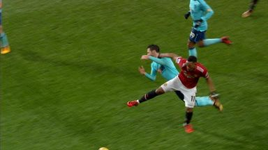 Did Martial foul Smith?
