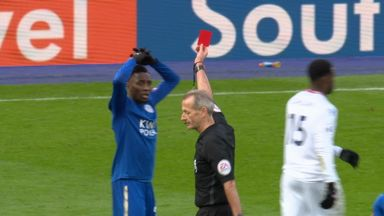 Ndidi sent off for diving
