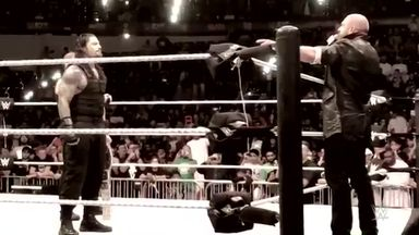 Triple H confronts The Shield