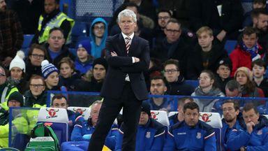 Stoke consider Hughes' future