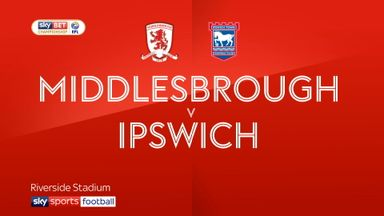 Middlesbrough 2-0 Ipswich