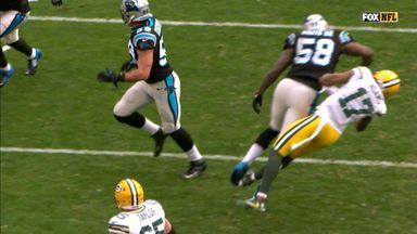 Adams taken out by blind side hit