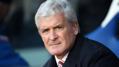 Hughes calm over Stoke future