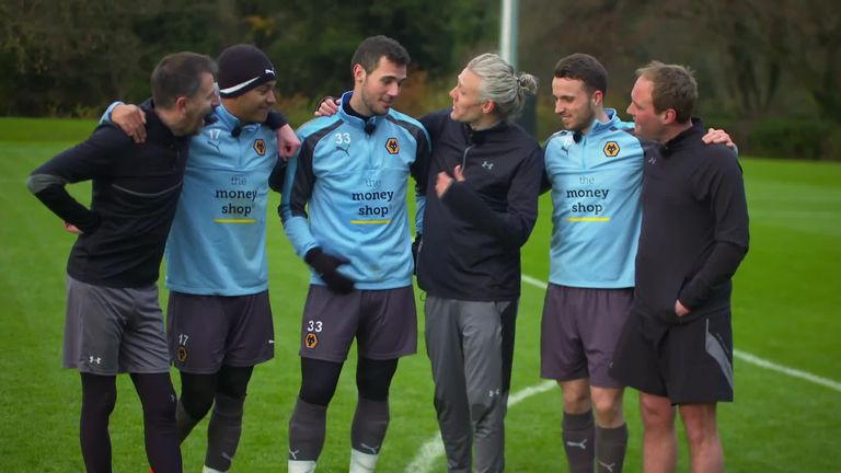 Soccer AM presenters Jimmy Bullard, Tubes and Fenners take on Wolves in You Know The Drill.