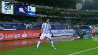 Willian Jose header stuns Barca
