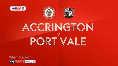 Accrington 3-2 Port Vale