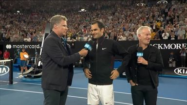 Will Ferrell interviews Federer!