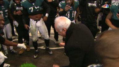 Eagles' owner struts his stuff
