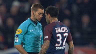 Alves squares up to referee!