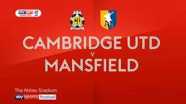 Cambridge 0-0 Mansfield