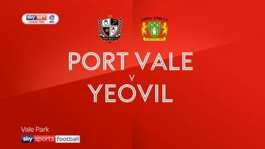 Port Vale 1-1 Yeovil