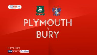Plymouth 3-0 Bury